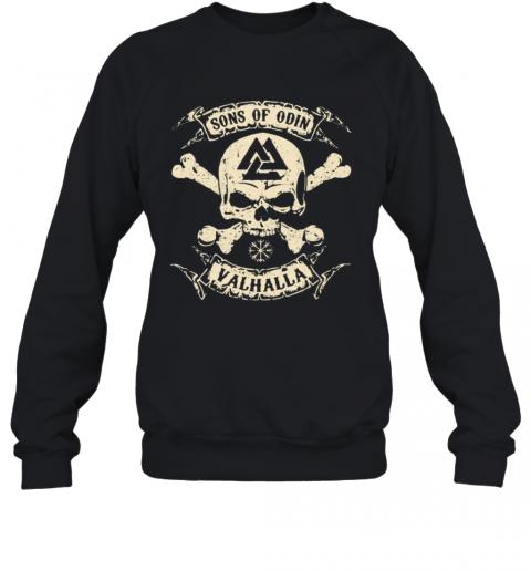 Vikings Skull Sons Of Odin Valhalla Vintage T-Shirt Unisex Sweatshirt