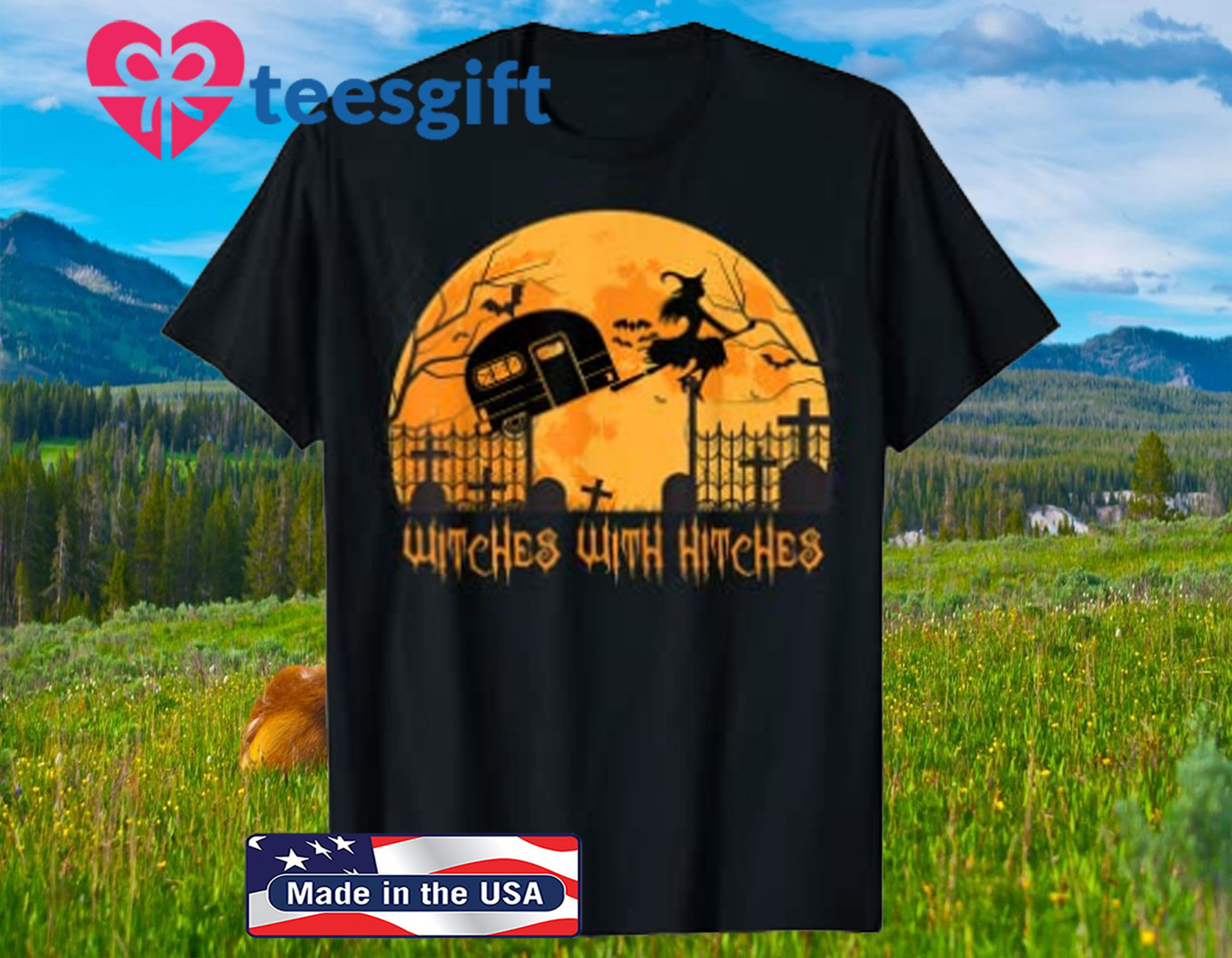 Witches with Hitches Halloween Camping SweaterShirt