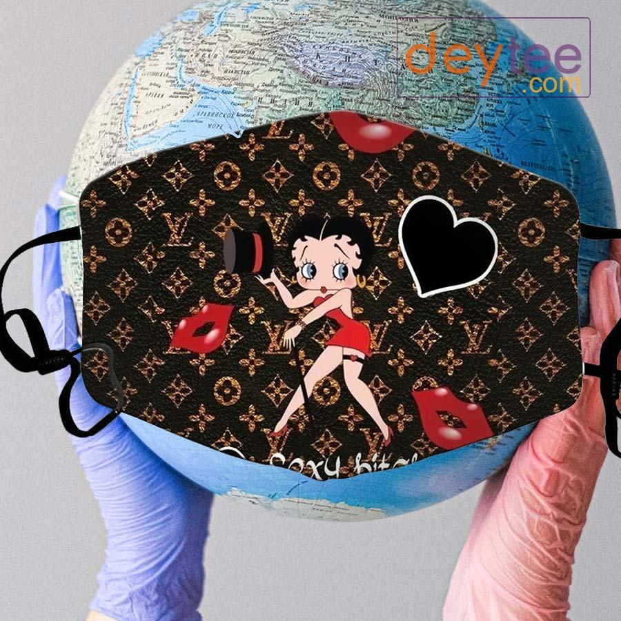Betty Boop Louis Vuitton Face Mask