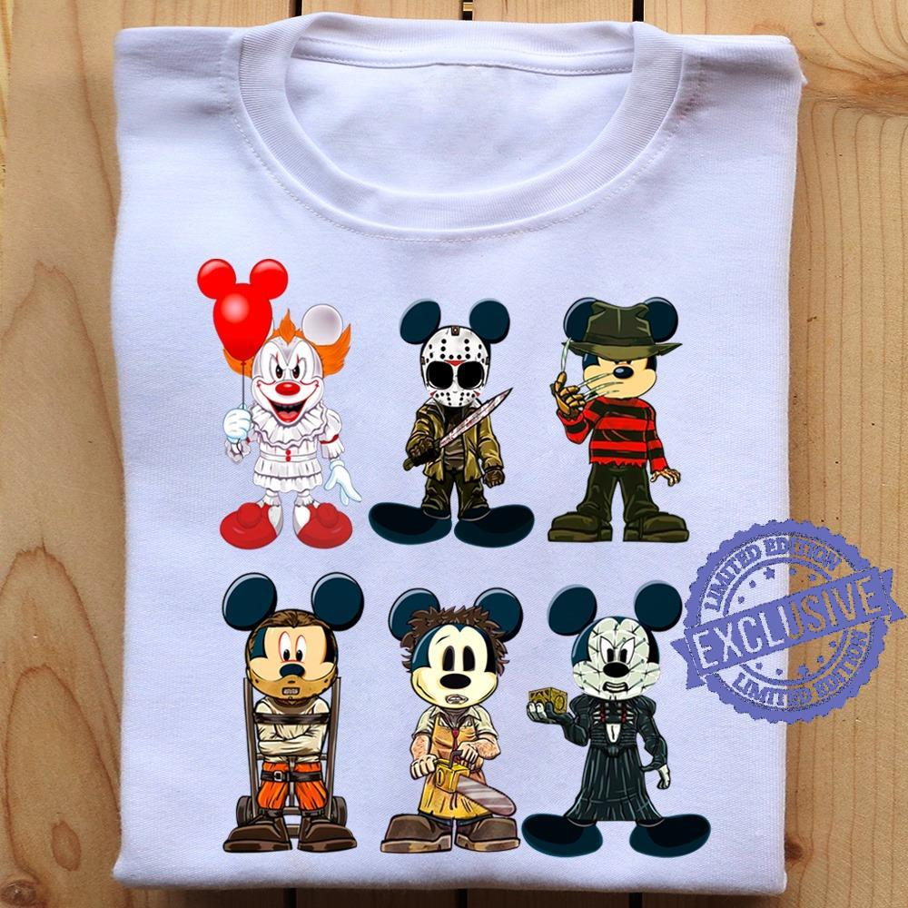 Disney Character Mickey Mouse And Friends Halloween T-Shirt