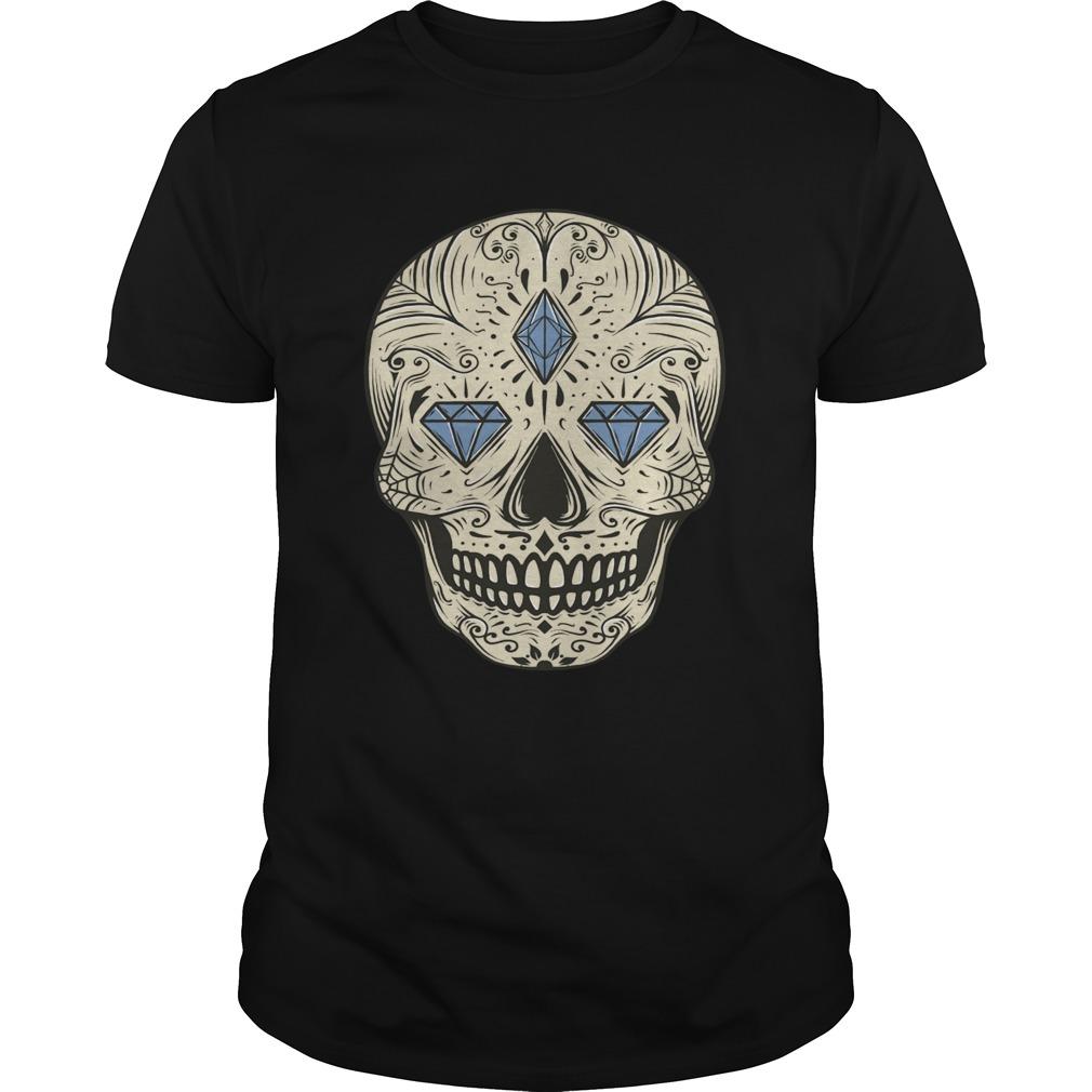 Sugar Skull Jewel Day Dead Muertos Vintage  Unisex