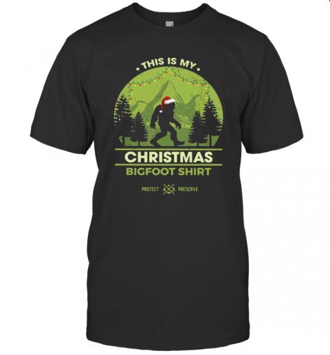 Bigfoot Santa This Is My Christmas Bigfoot T-Shirt Classic Men's T-shirt