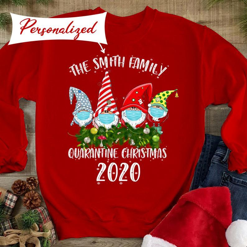 Covid Christmas 2020, Quarantine Christmas Matching Family Hoodies T-Shirt