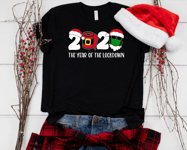 Funny Christmas Shirt, Christmas 2020 Shirt, 2020 The Year Of The Lockdown Shirt, Quarantine Christmas Shirt, Family Christmas Matching Tee