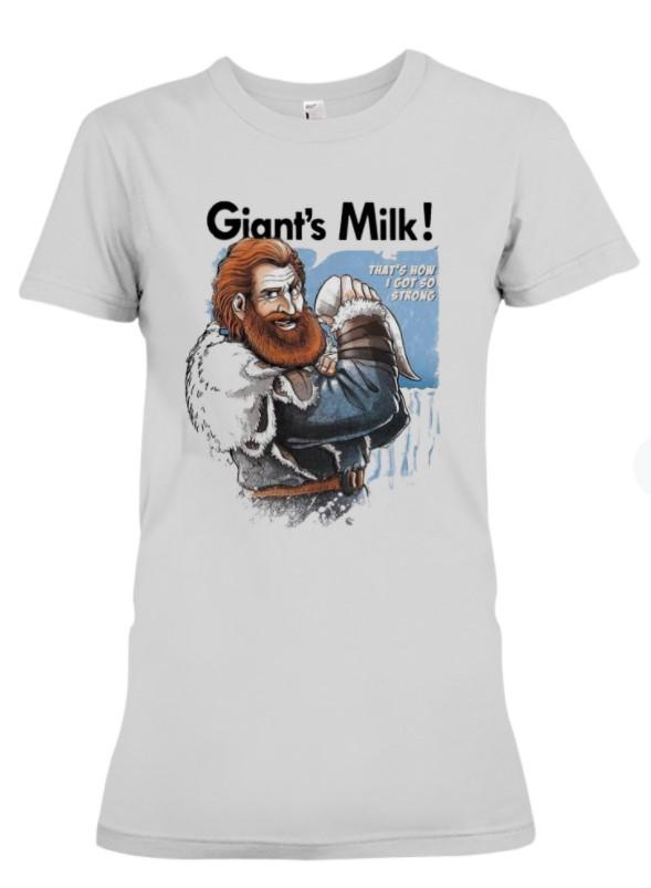 2021 Giants Milk Thats How I Got So Strong Gift Shirt