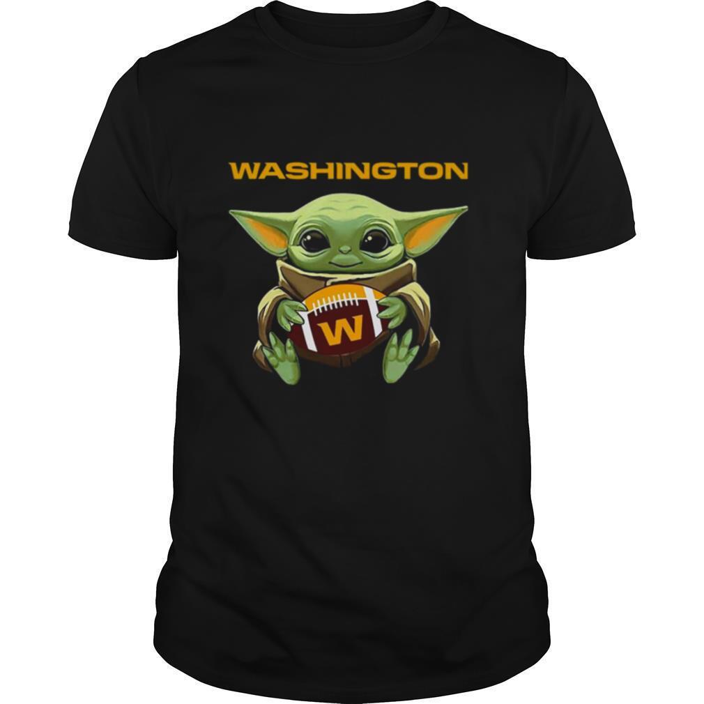 Baby Yoda Hug Washington Football Team shirt