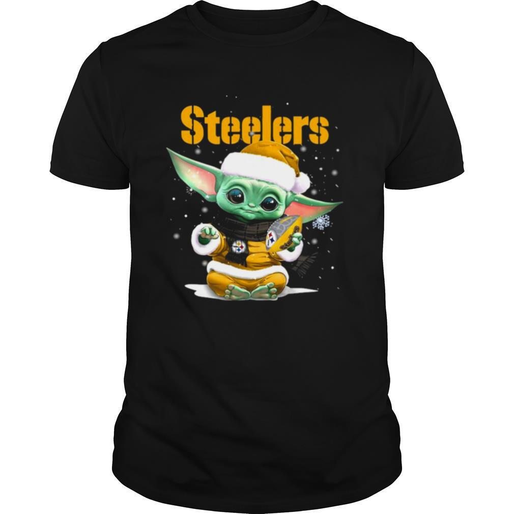 Baby Yoda Pittsburgh Steelers Football Christmas shirt