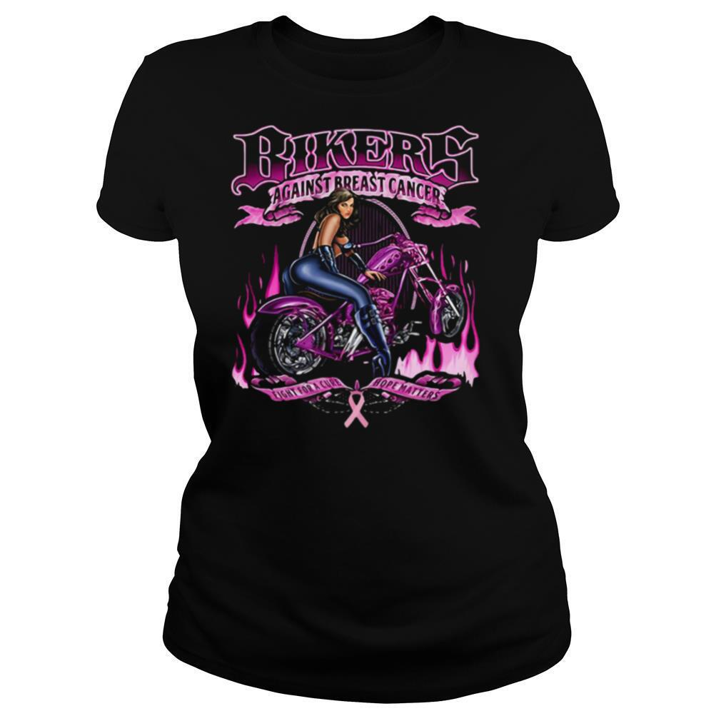 Bikers against breast cancer shirt