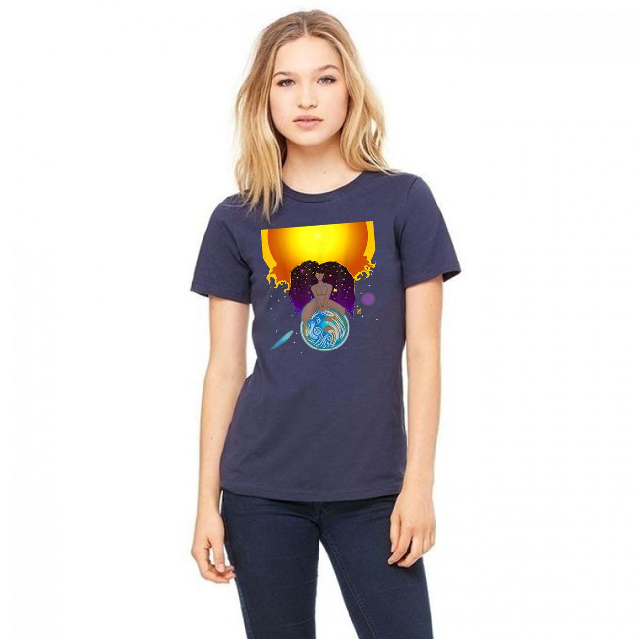 Black Cosmic God Gift T-Shirts