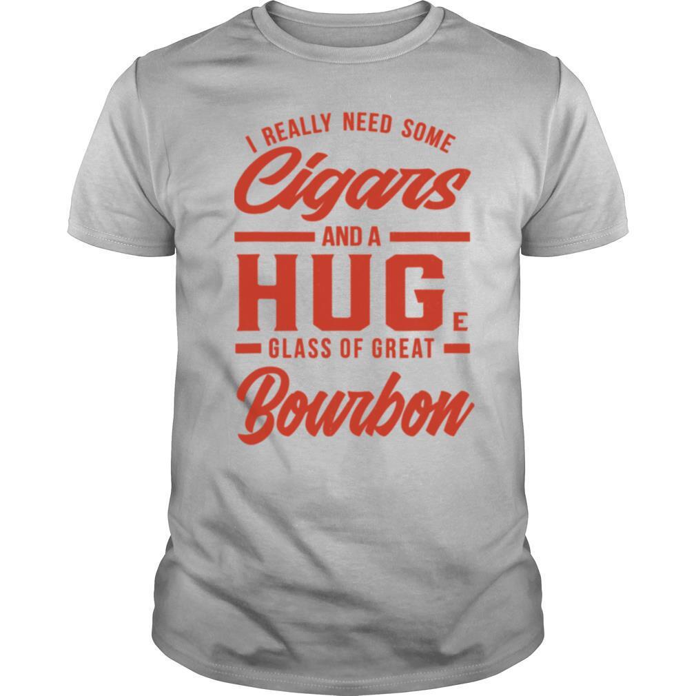 Bourbon Whiskey Cigar Smoking I Whisky Cigar Smoker shirt