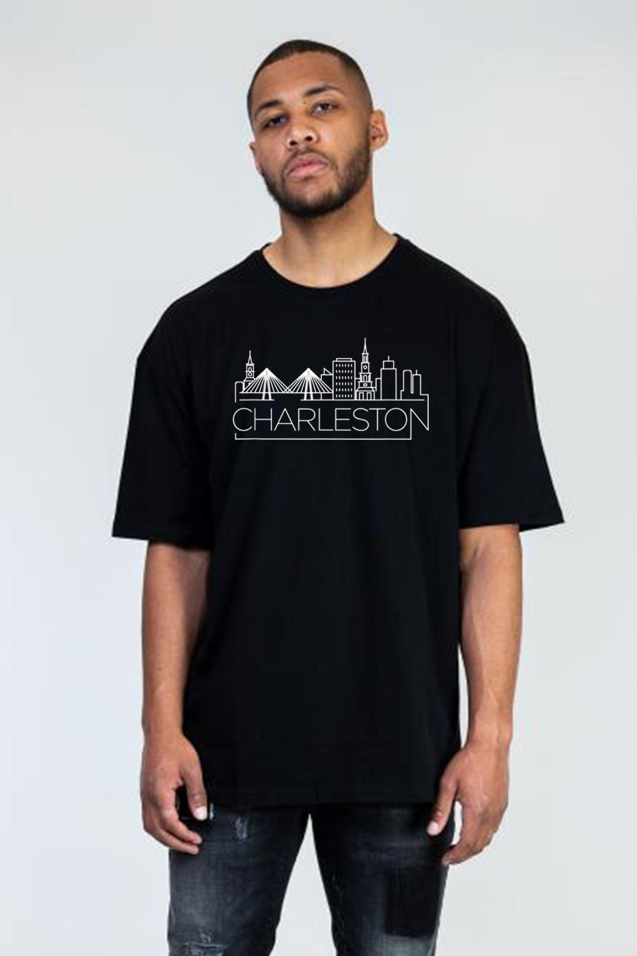 Charleston, South Carolina City Skyline and Classic T-Shirt