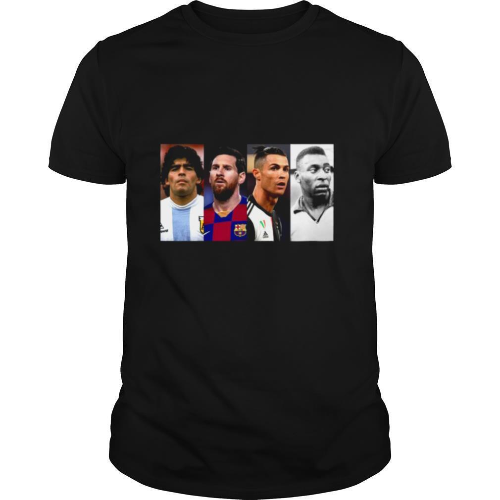 Diego Maradona Lionel Messi And Ronaldo And Pele Legend Never Die shirt