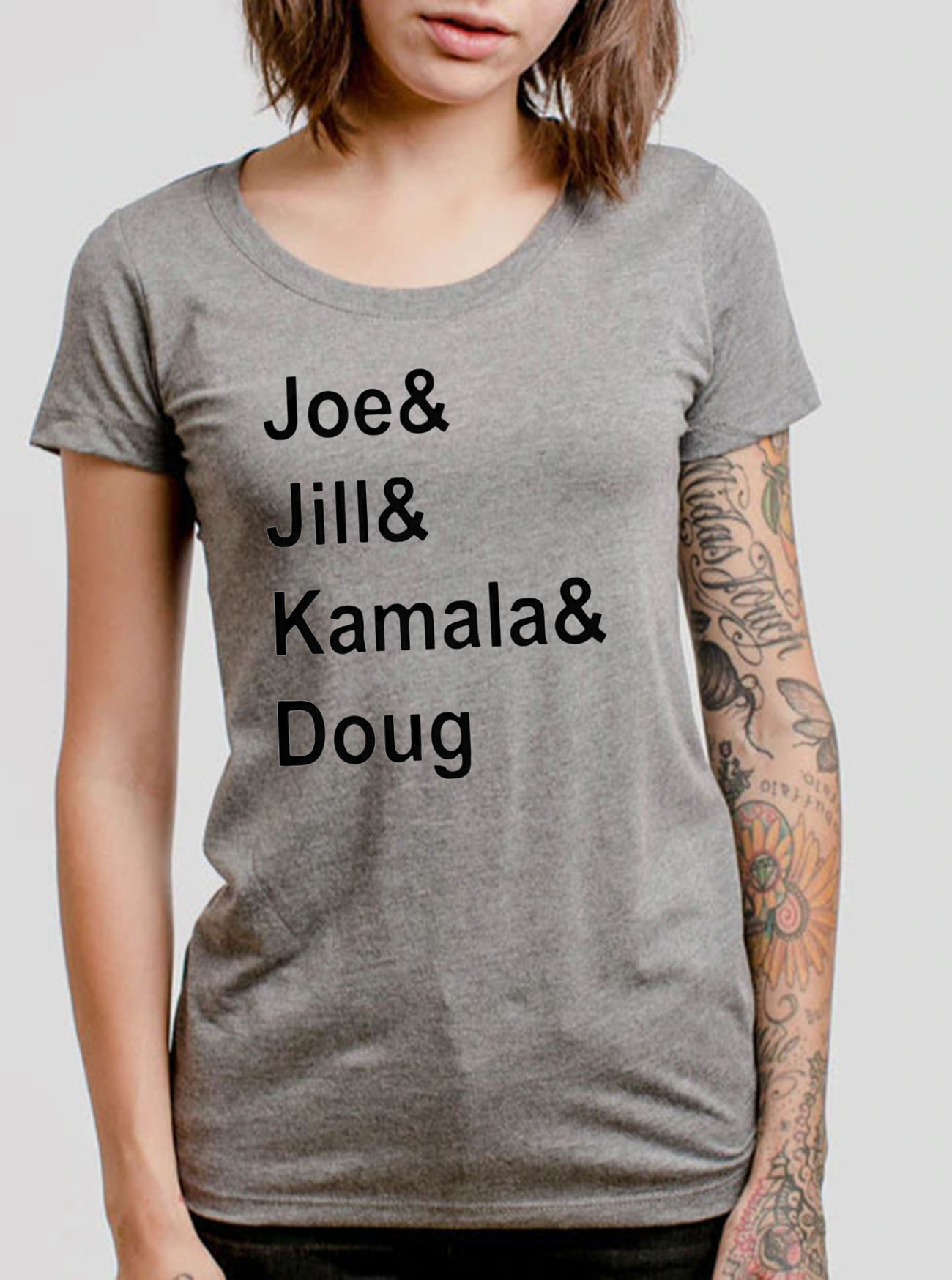 Joe and Jill and Kamala and Doug Tee Shirts