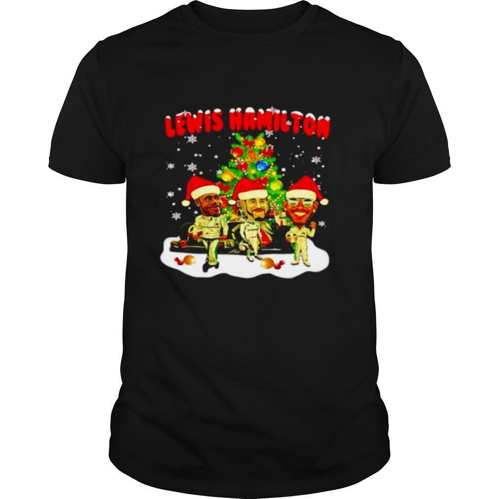 Lewis Hamilton chibi Christmas tree shirt