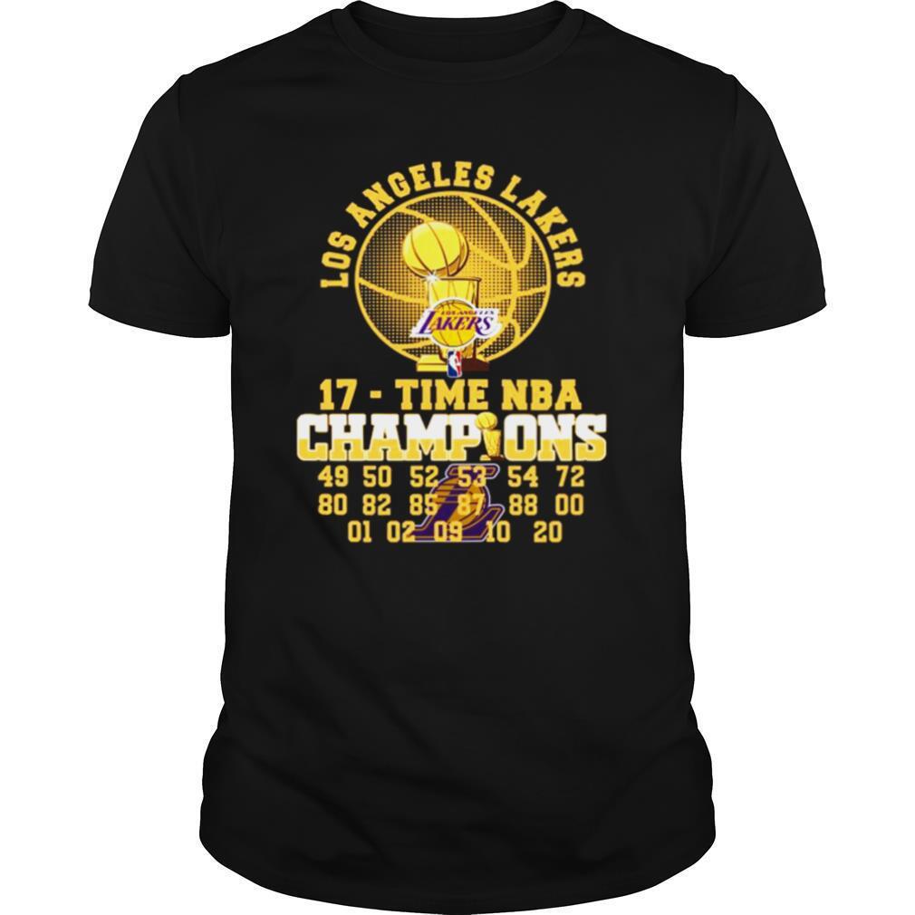 Los Angeles Lakers 17 Time Nba 2020 Champions 49 50 52 53 54 72 80 shirt