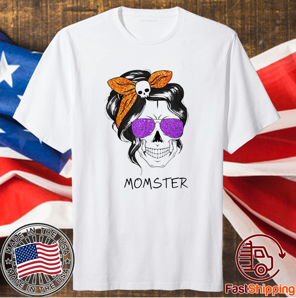 Momster Mom Skull Halloween Costume Tee Shirt