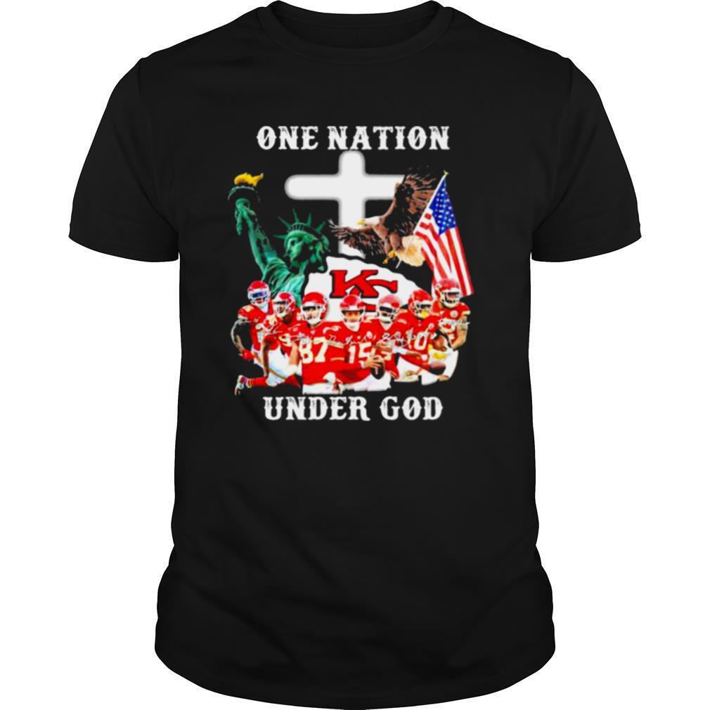 One Nation Under God Liberies American Flag shirt