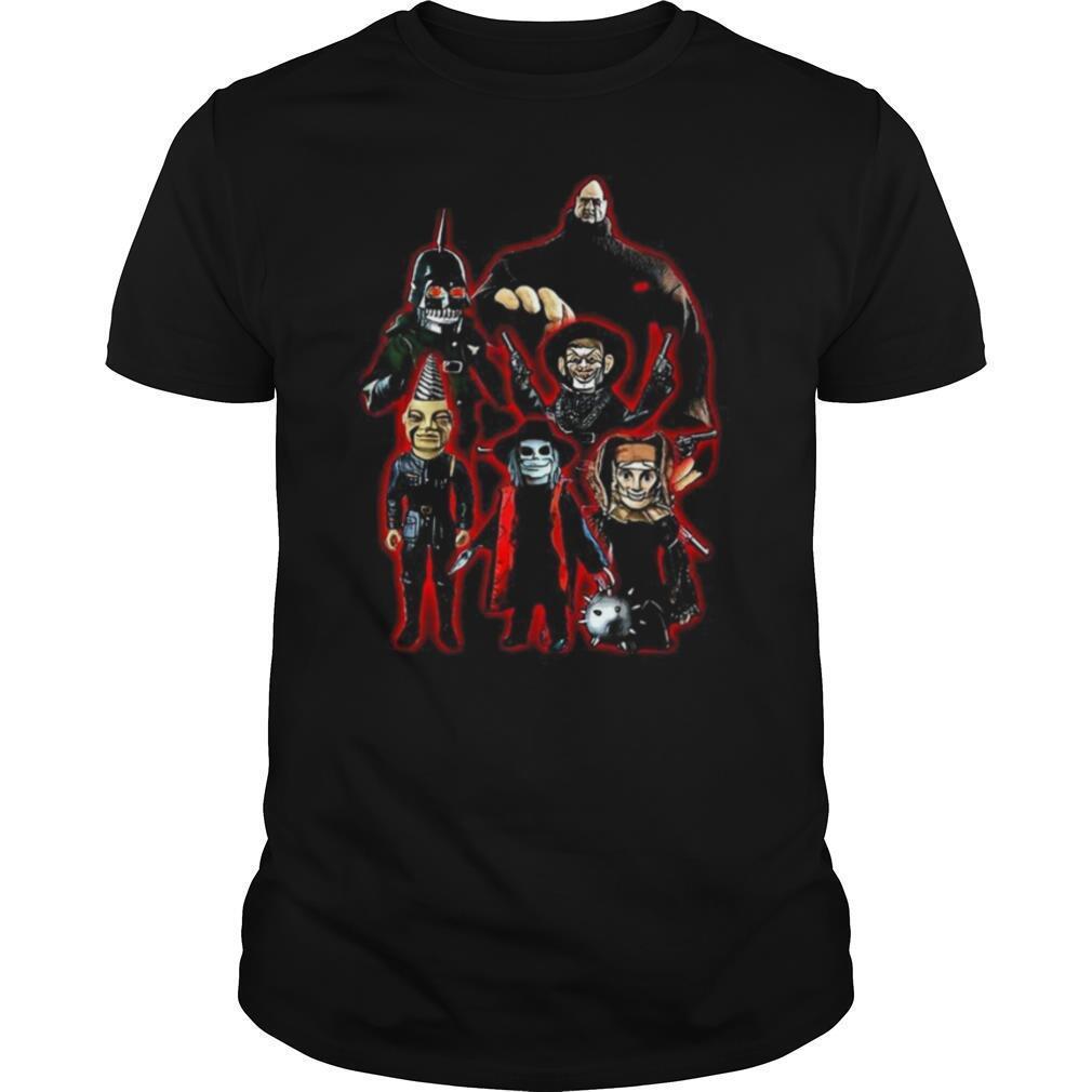 Puppet Master Horror Movie 80s Blade Pin Head Torch Jester Drill shirt