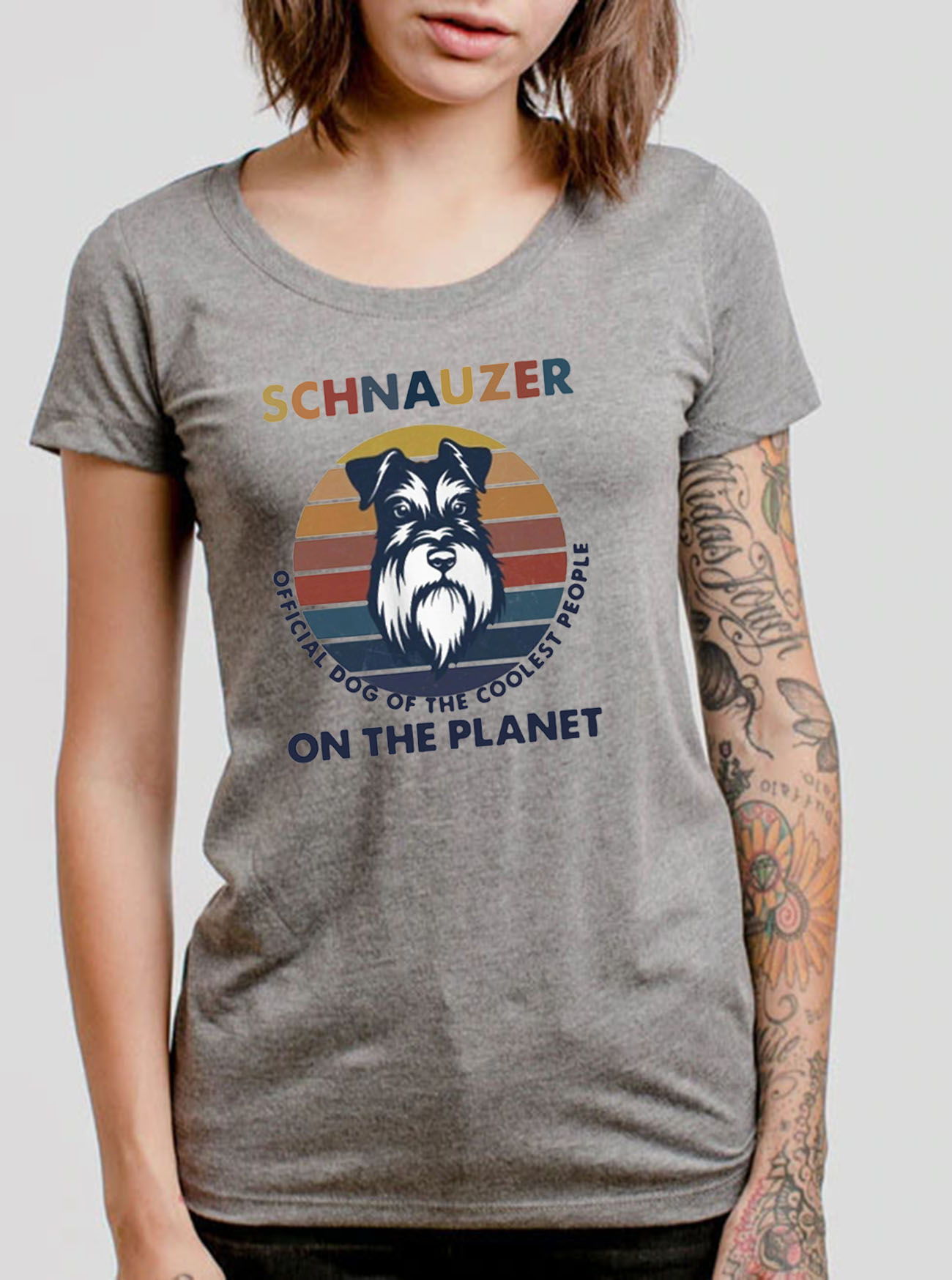 Schnauzer Official Dog Of The Coolest People On The Planet Vintage Retro Classic T-Shirt