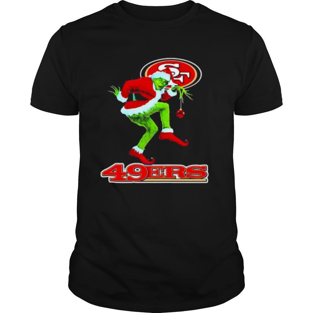 The Grinch Santa San Francisco 49ers Christmas shirt