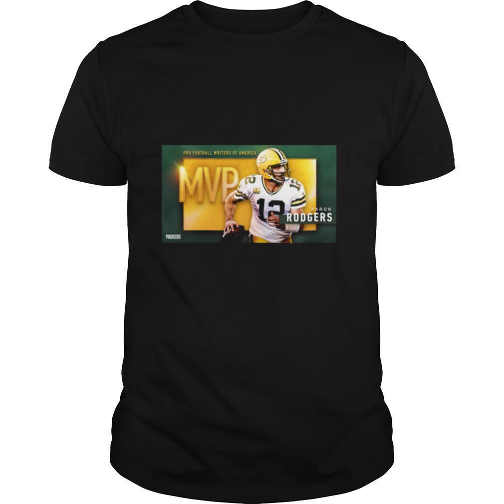 Aaron Rodgers MVP Football Writers Of America shirt