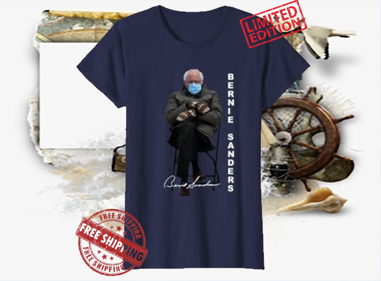 Bernie Sanders Sitting Inauguration Meme Mittens Funny Shirt