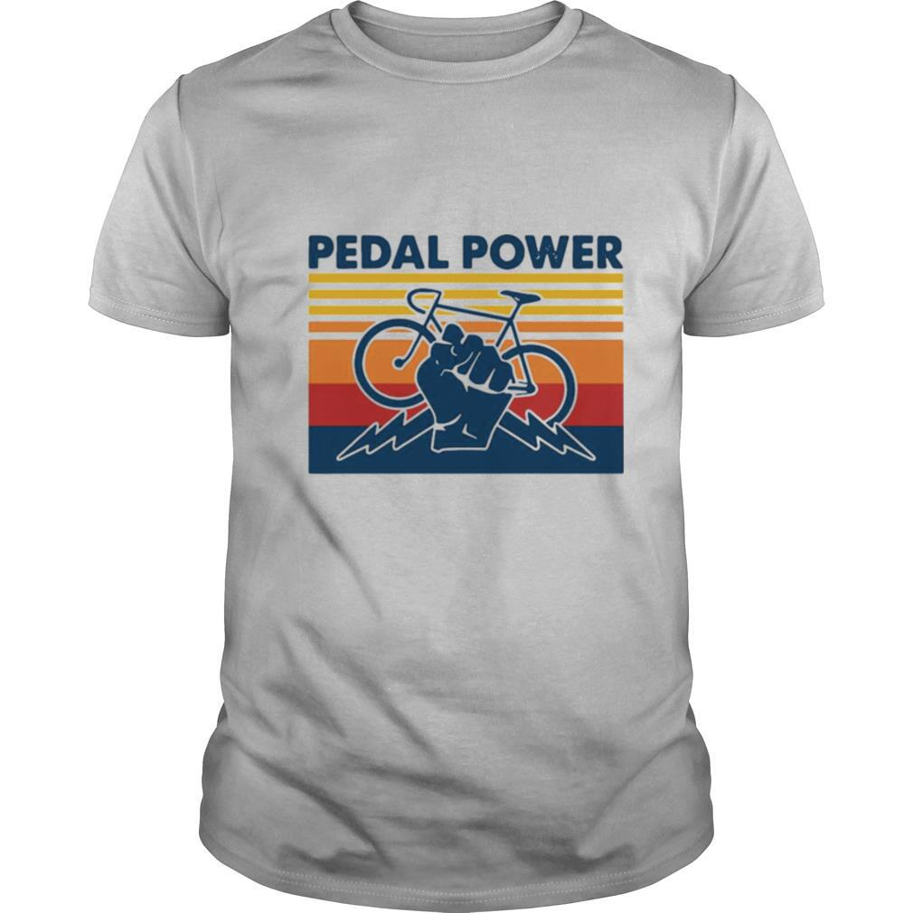 Bicycle Pedal Power Vintage Retro shirt