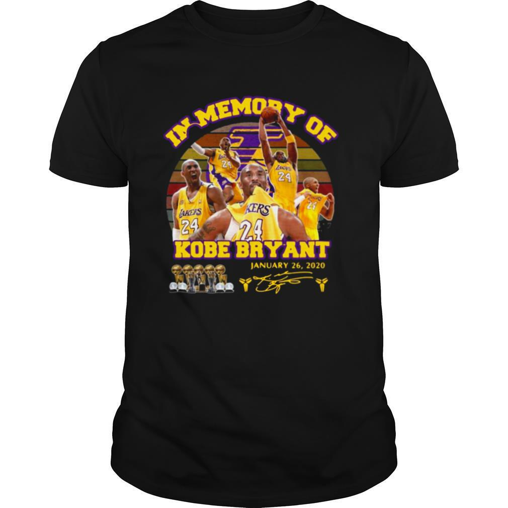 In Memory Of Kobe Bryant January 26 2020 Signature Vintage shirt