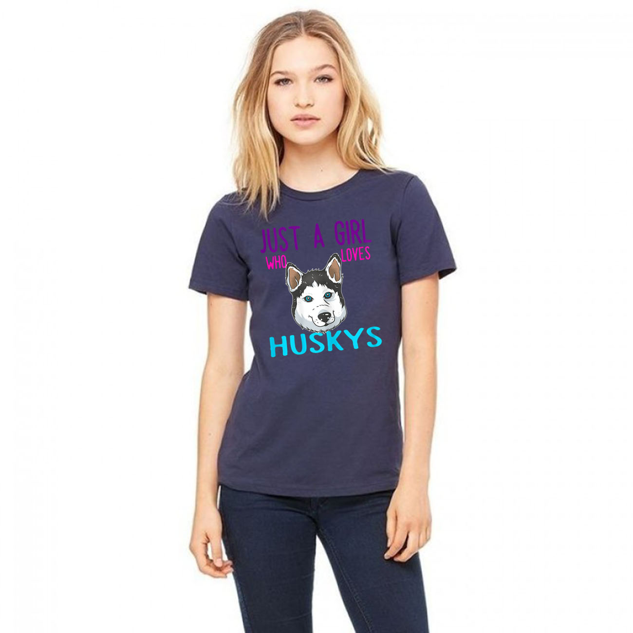 Just a Girl who loves Huskys Unisex T-Shirt