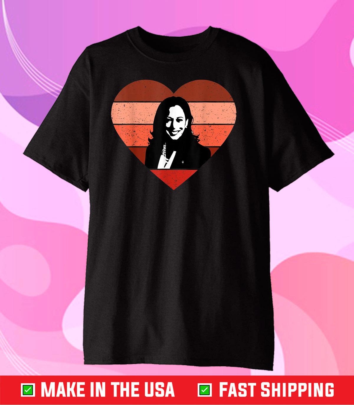 Kamala Harris Inauguration Day 2021 Saint Valentine Heart Unisex T-Shirt