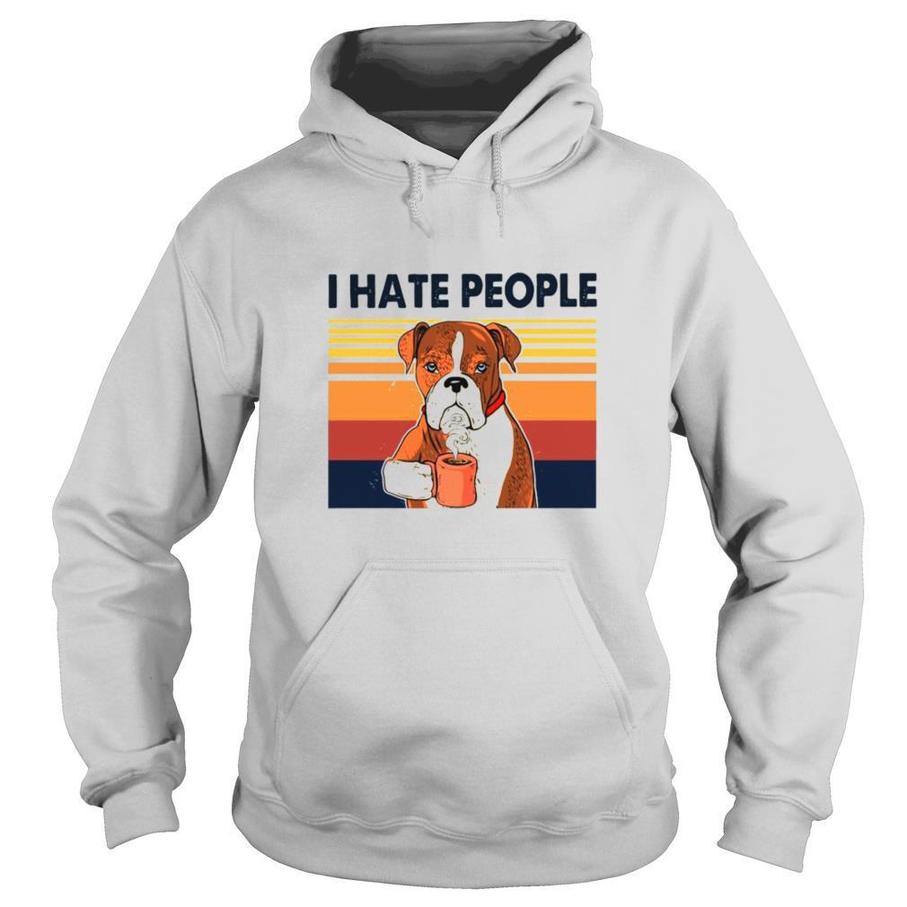 Labrador Retriever Drink Coffee I Hate People Vintage 2021 shirt