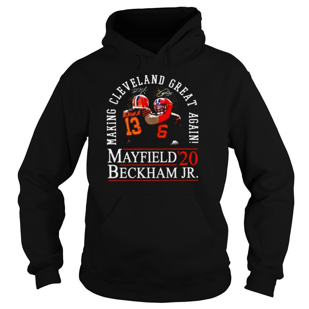 Making Cleveland Browns Great Again Mayfield Beckham Jr 20 shirt