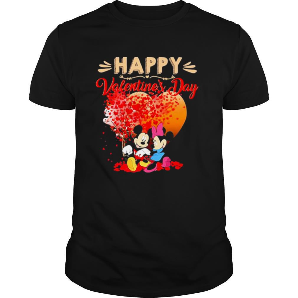 Mickey and Minnie mouse Happy Valentines Day heart shirt