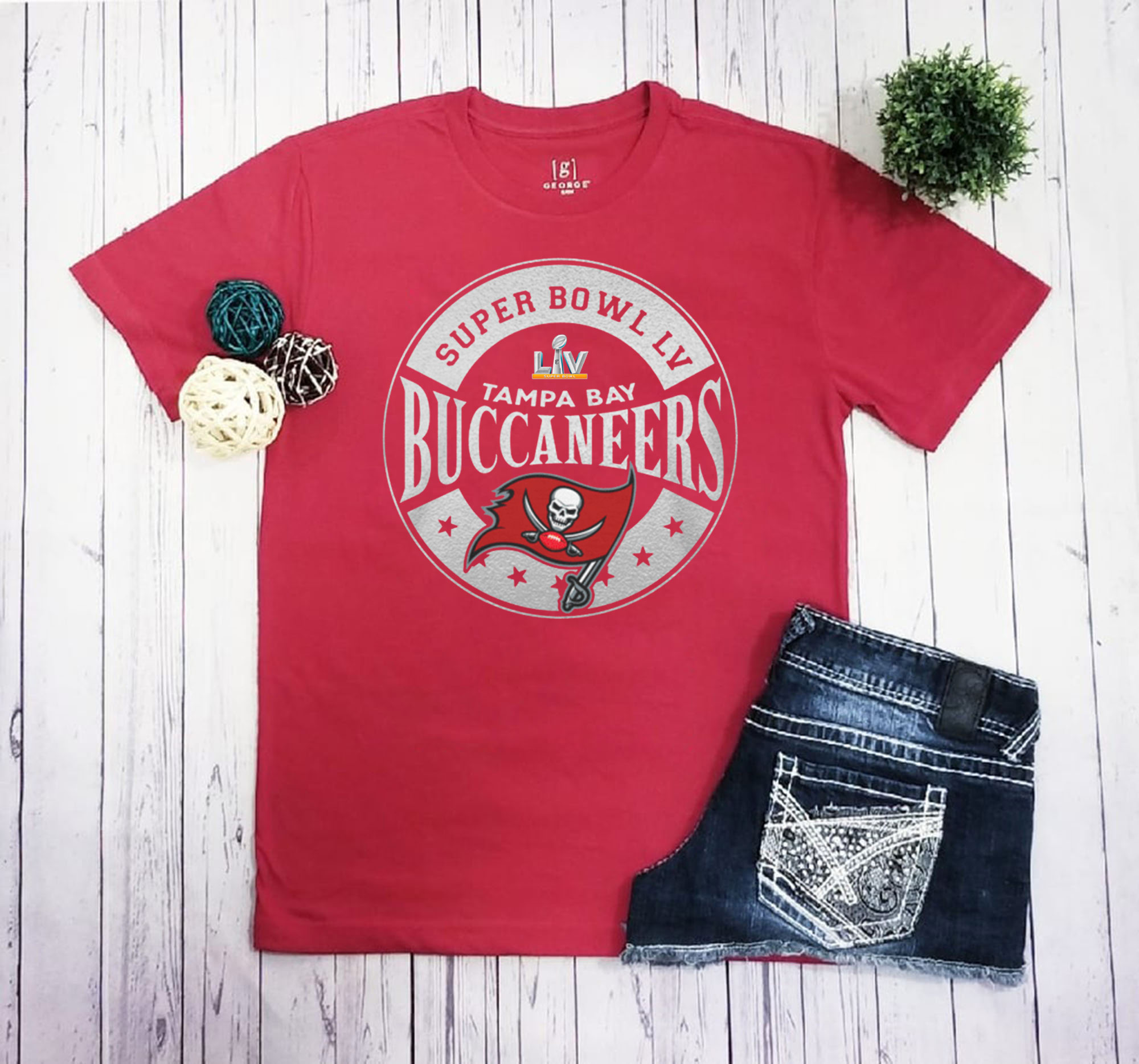 Tampa Bay Buccaneers Super Bowl LV Bound In The Zone Metallic Classic T-Shirt