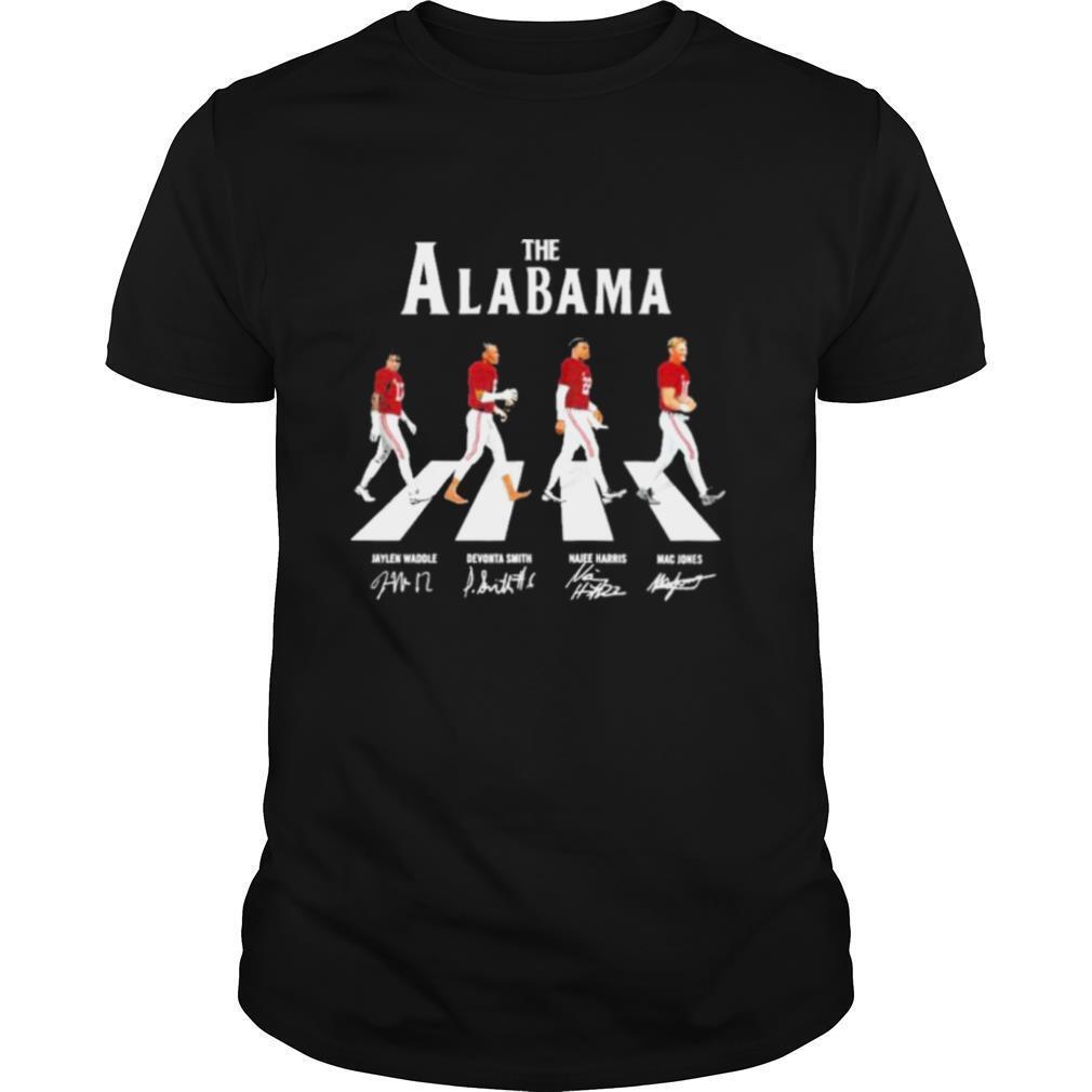 The Alabama Abbey road signatures 2021 shirt
