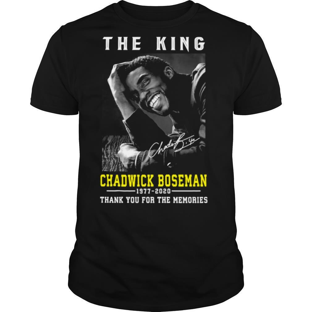 The King Chadwick Boseman 1977 – 2020 Thank You For The Memories shirt