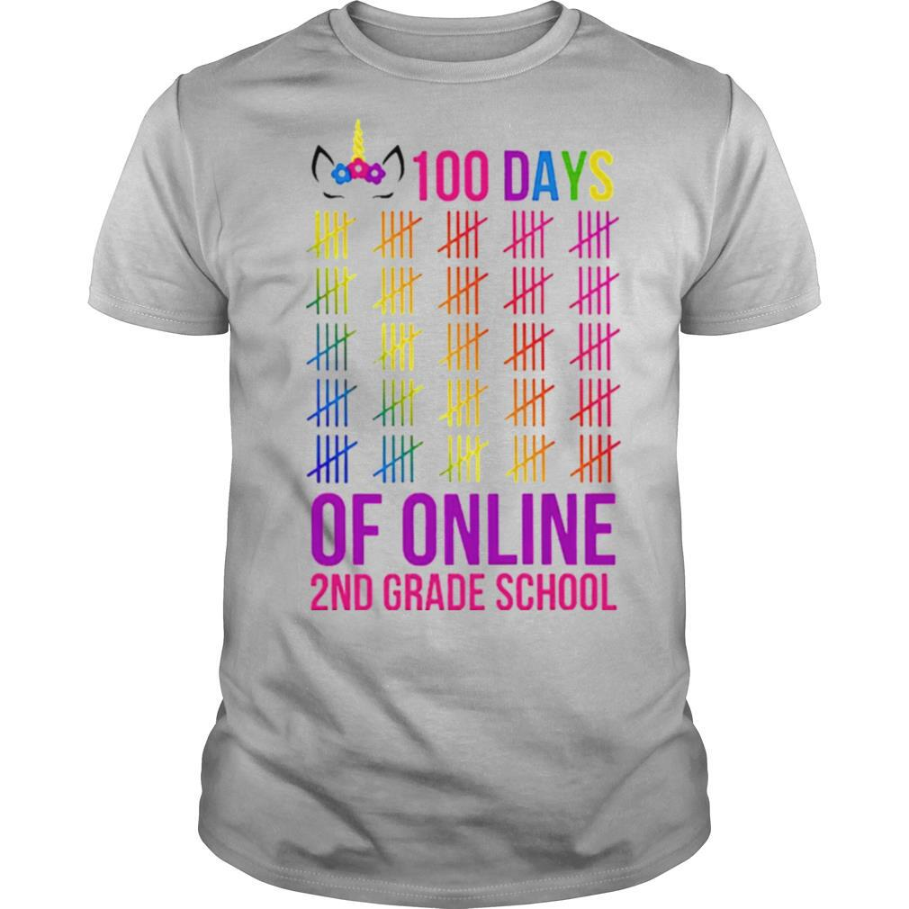 Unicorn 2nd Grade School 100 Days Of Online shirt