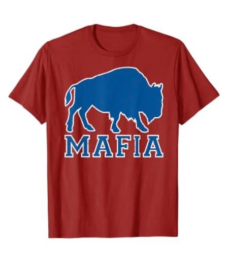 Vintage Retro Bills Fan Mafia Red Hoodies Buffalo Sports Fan Football T-Shirt