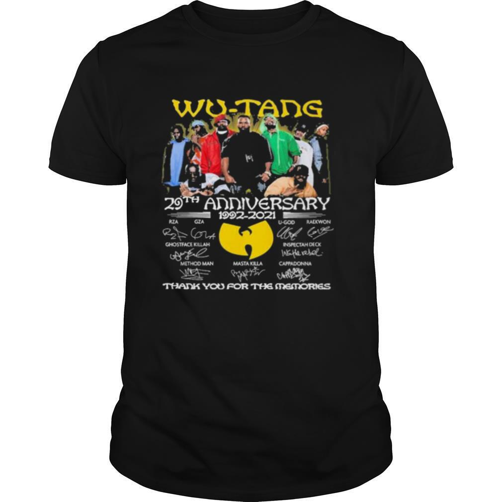 Wu tang 29th anniversary thank you for the memories shirt