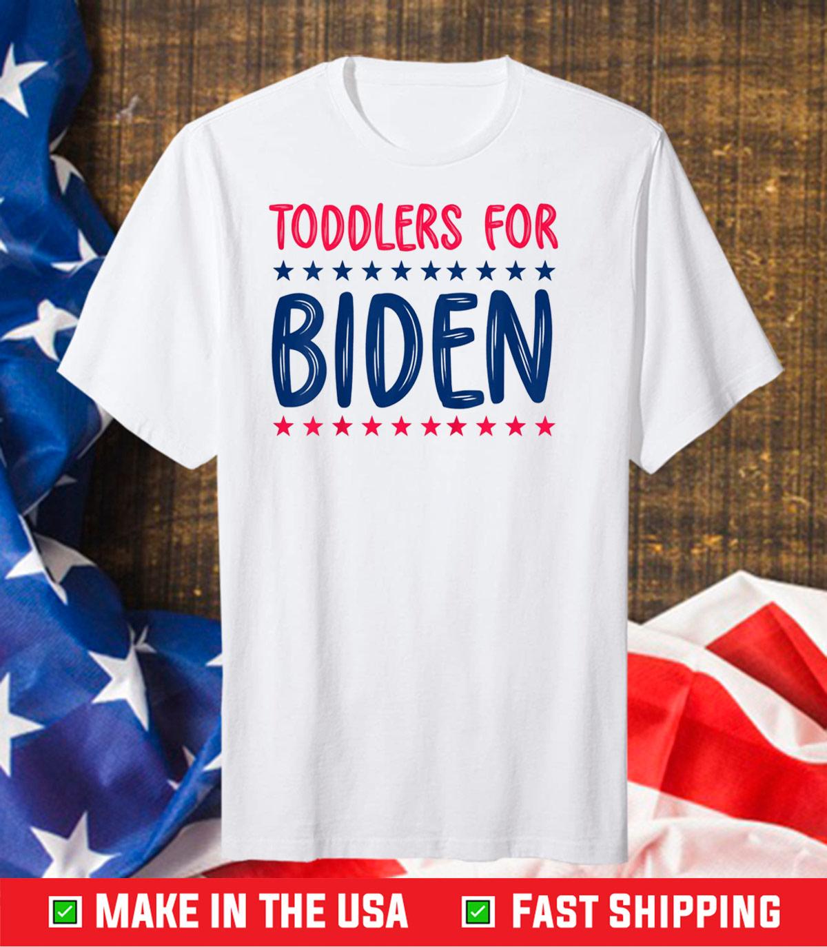 biden harris 2020 shirt Toddlers for Biden Unisex T-Shirts