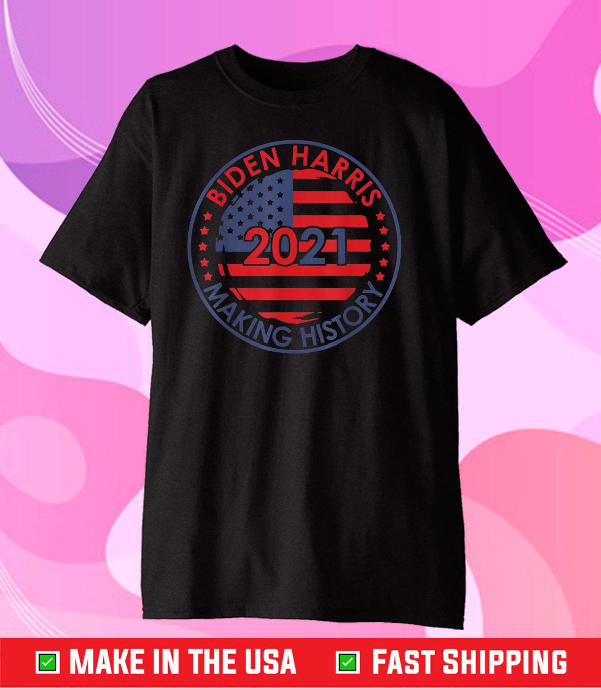 Biden Harris Inauguration 2021 Making History Retro Vintage Classic T-Shirt