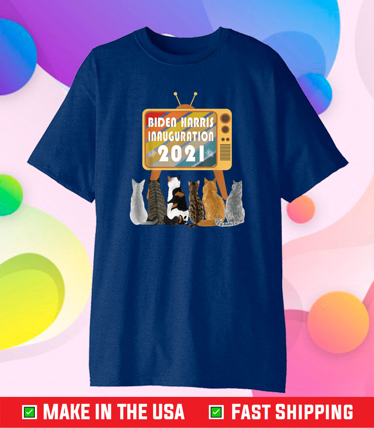 Biden Harris Presidential Inauguration 2021 Cats Celebration Classic T-Shirt