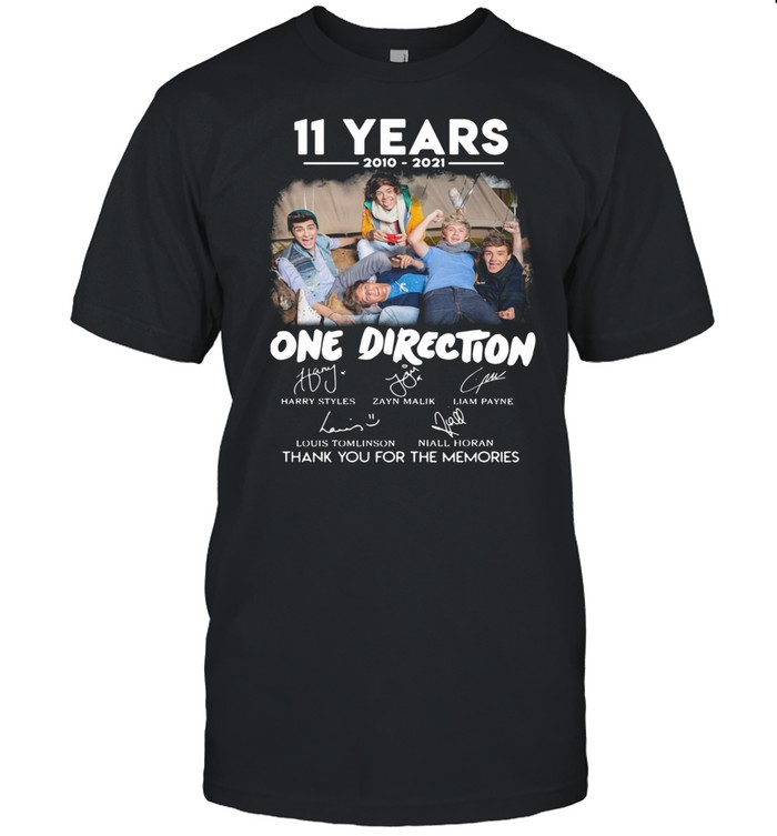 11 Years 2010 2021 One Direction Signatures Thank You For The Memories shirt Classic Men's T-shirt