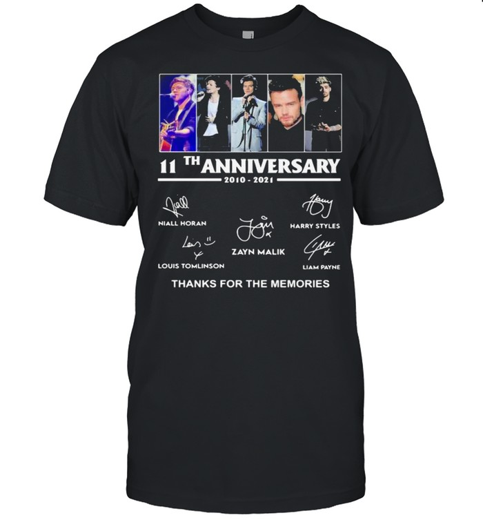 11th Anniversary One Direction Thank You For The Memories shirt Classic Men's T-shirt