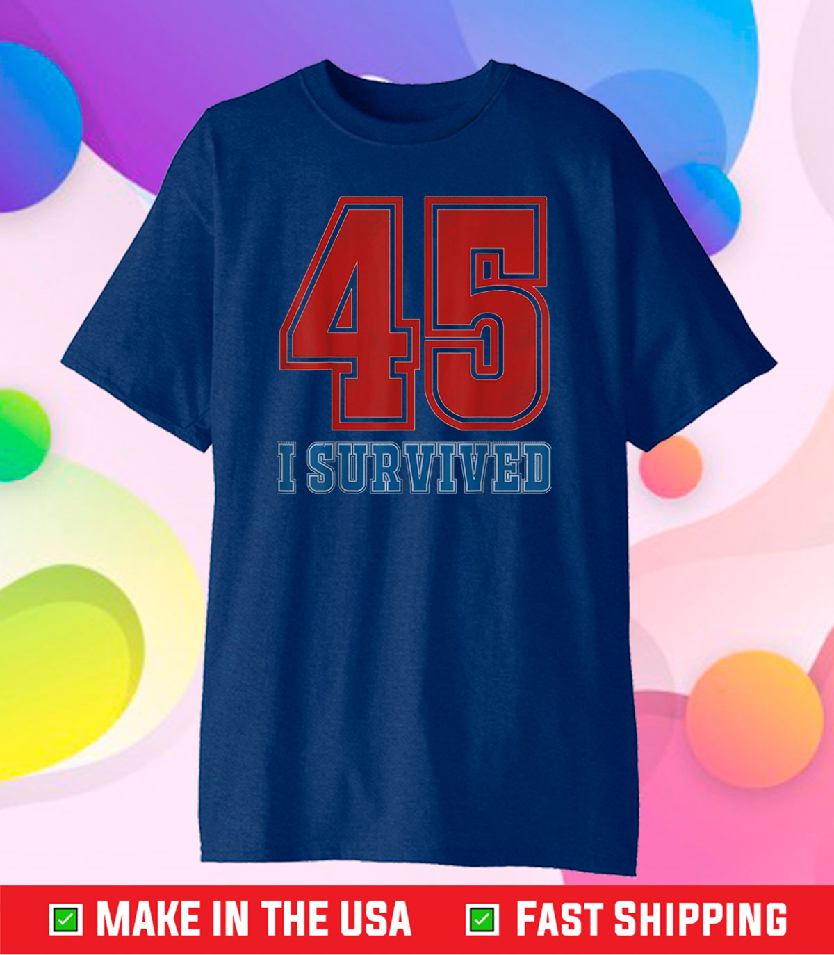 I Survived 45 Trump Lost Funny 2020 Election Vintage Retro Classic T-Shirt