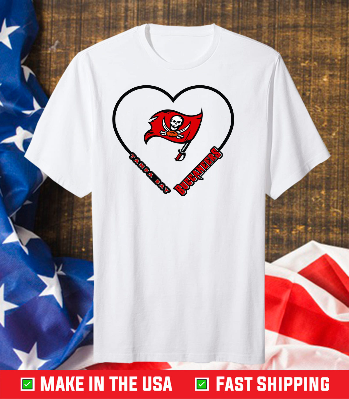 Tampa Bay Buccaneers Heart Unisex T-Shirts