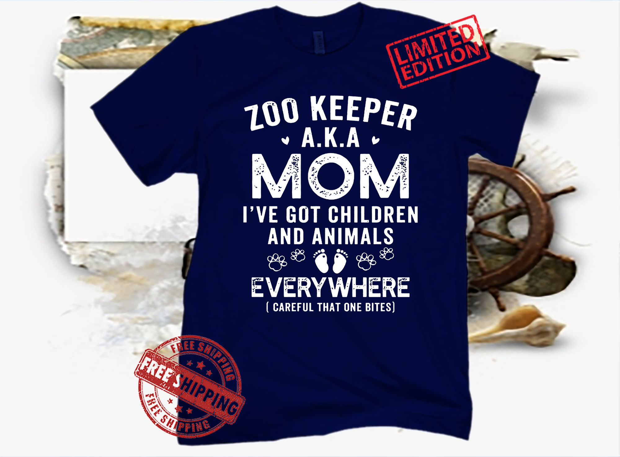 Zoo keeper aka mom i've got children and animals everywhere unisex shirt