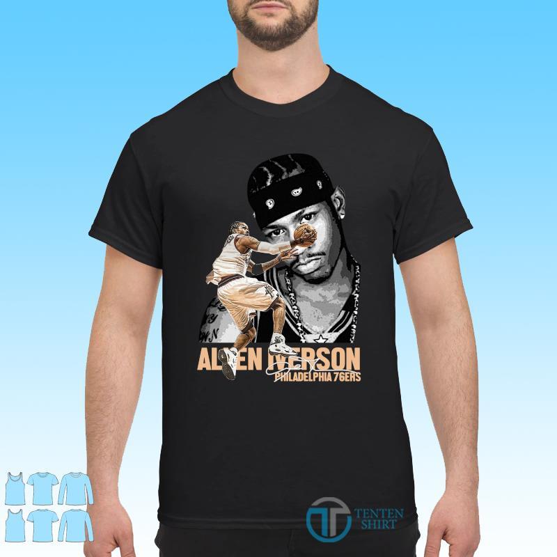 Official Philadelphia 76er Allen Iverson Player Signature Shirt