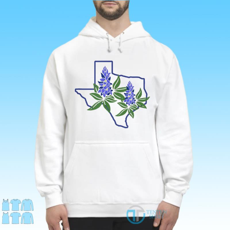 Official Texas Bluebonnet Wildflowers Shirt Hoodie