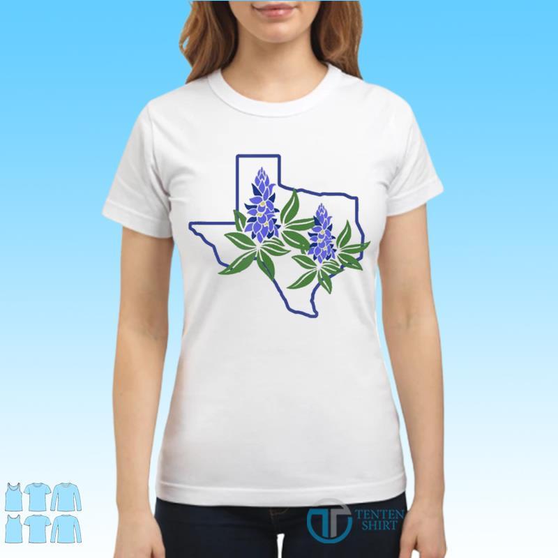Official Texas Bluebonnet Wildflowers Shirt Ladies tee